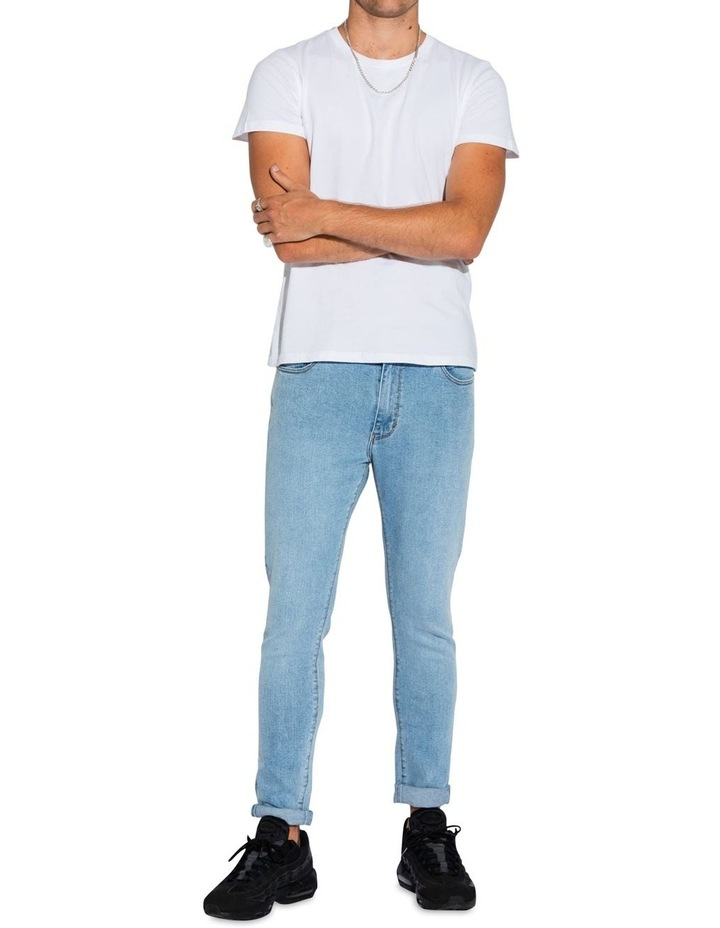 A Dropped Skinny Turn Up Jean image 1