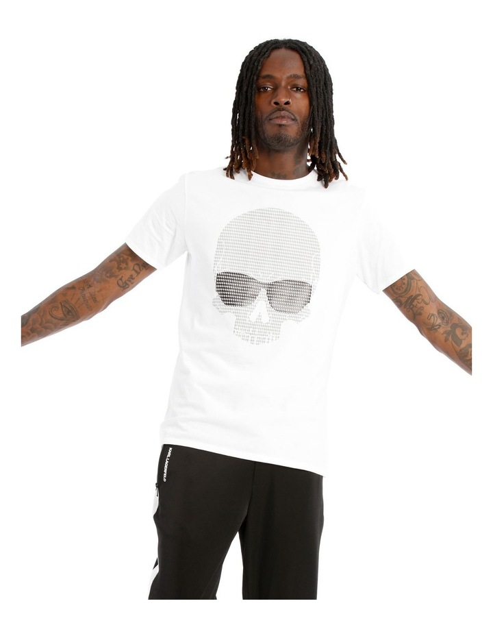 Camouflage Skull T-Shirt with Sunglasses - White image 1