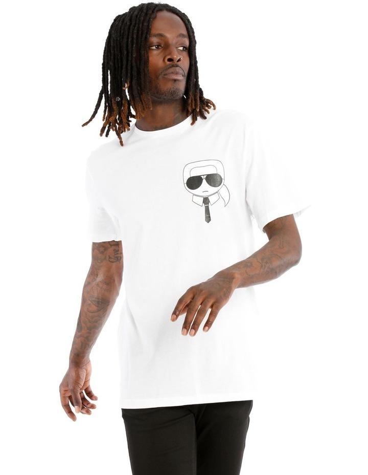 Karl Caricature T-Shirt - White image 1