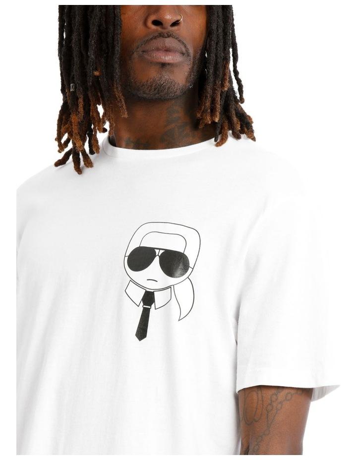 Karl Caricature T-Shirt - White image 4