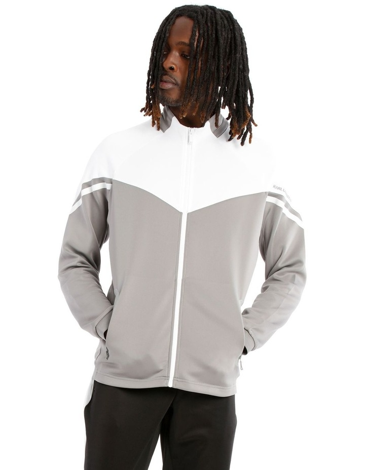 Colour Block Track Jacket - Grey image 1
