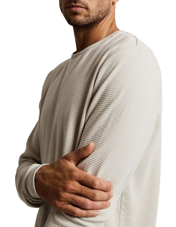 Waffle Long Sleeve Sweat Top image 3