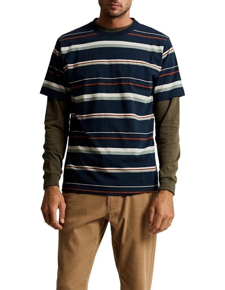 Heavy Weight Short Sleeve Stripe T image 1