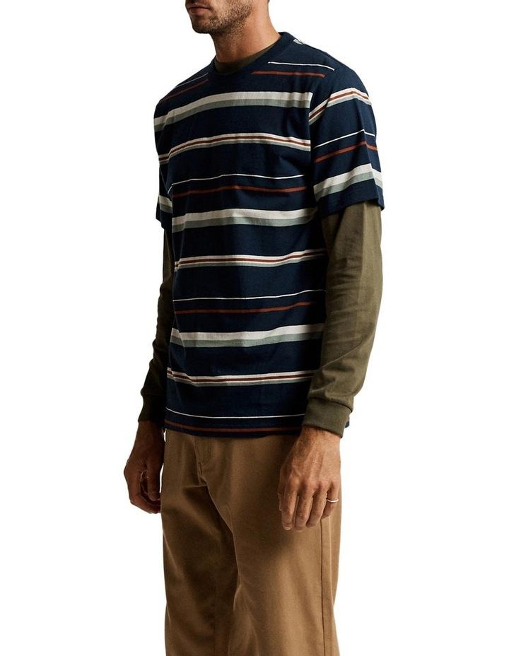 Heavy Weight Short Sleeve Stripe T image 2