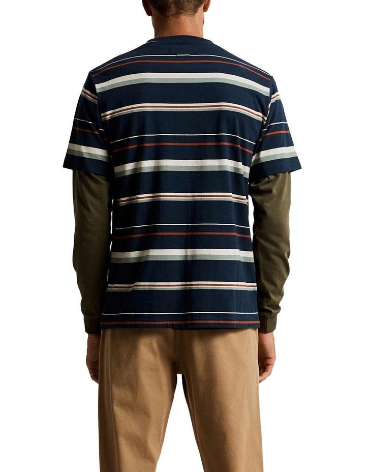 Heavy Weight Short Sleeve Stripe T image 3