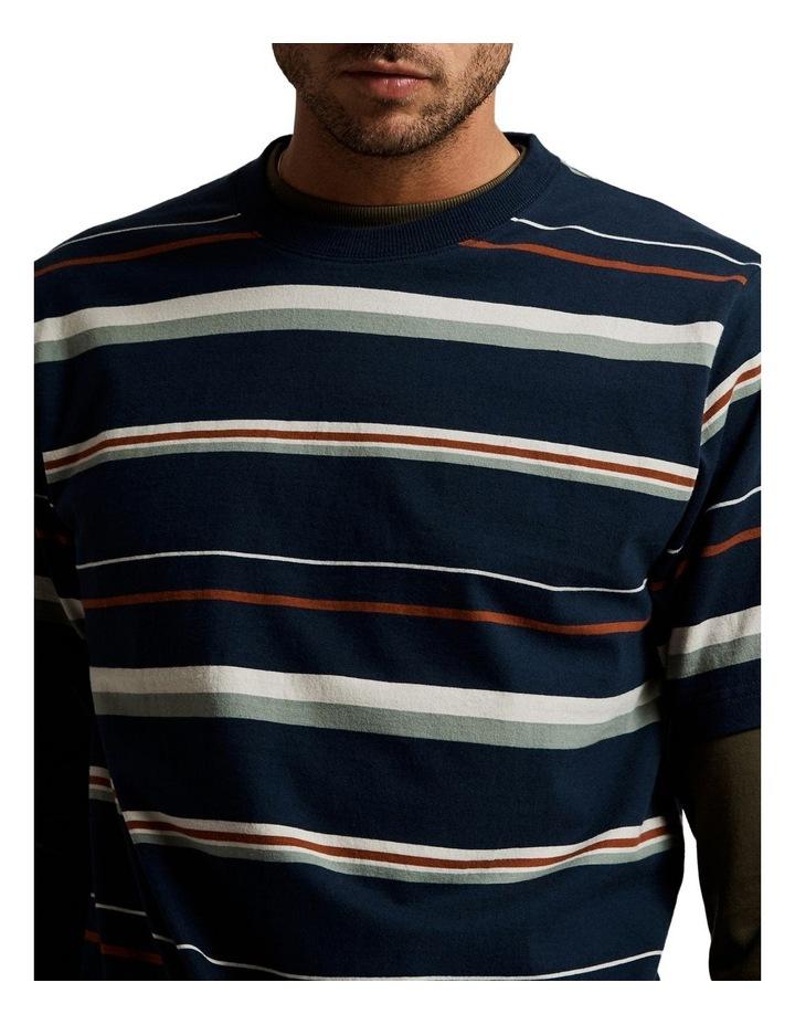 Heavy Weight Short Sleeve Stripe T image 4