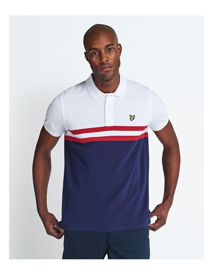 Yoke Stripe Polo Shirt image 1