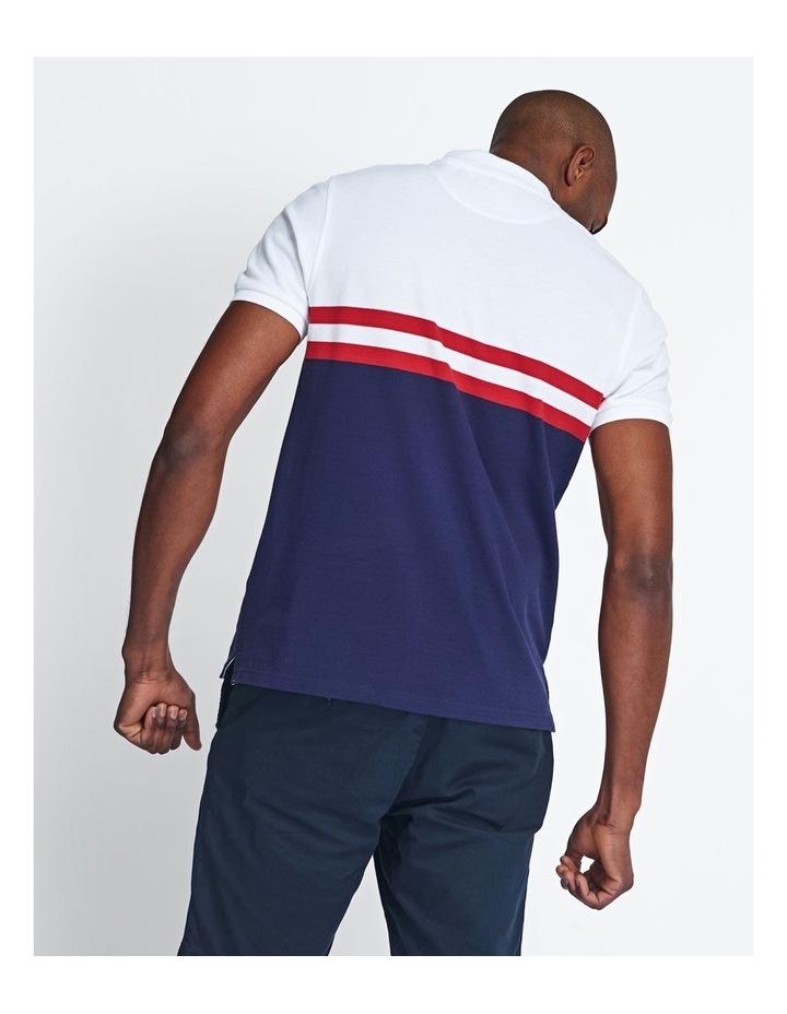Yoke Stripe Polo Shirt image 3