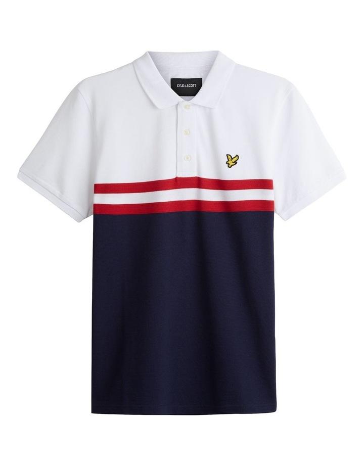 Yoke Stripe Polo Shirt image 4