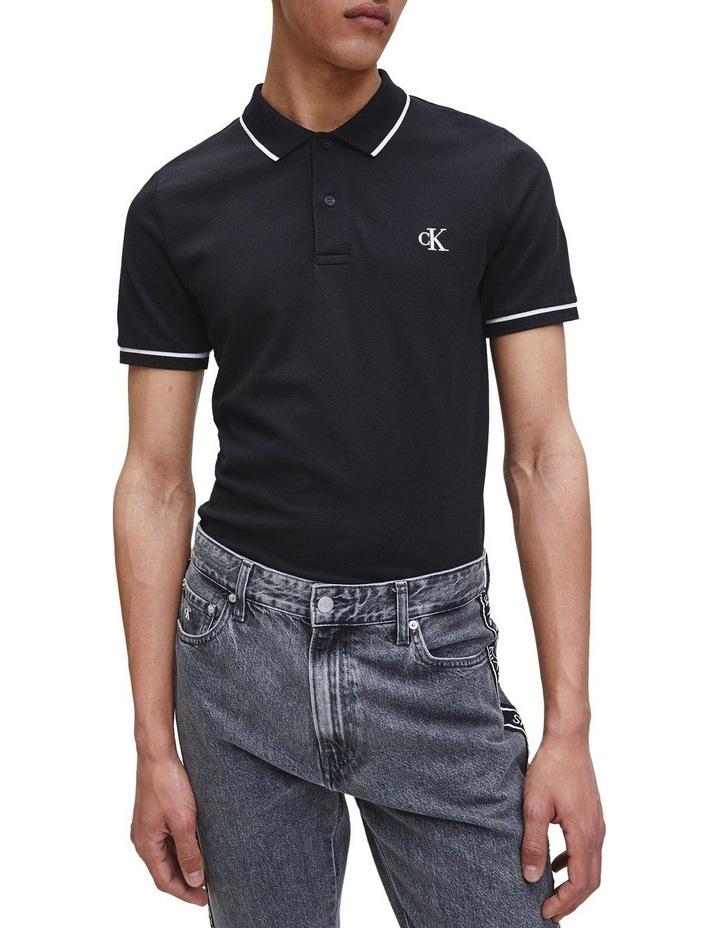 Slim Stretch Piqu Polo Shirt image 1