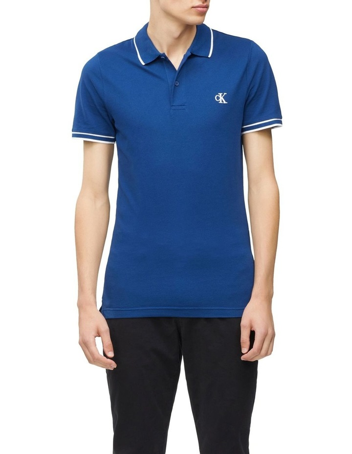 Slim Stretch Pique Polo Shirt image 1