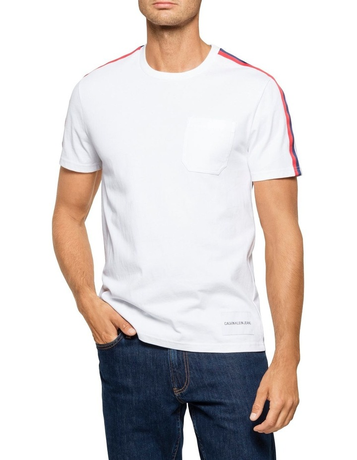 Tape Shoulder Short Sleeve Crew Neck Tee image 1