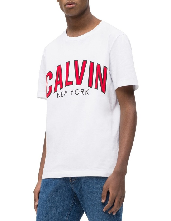 CALVIN CURVED VARSITY REG SS TEE image 2