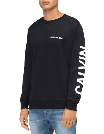 d7d30e3ac2d8 Calvin Klein JeansInstitutional Back Logo Reg Cn Sweat Top. Calvin Klein  Jeans Institutional Back Logo Reg Cn Sweat Top