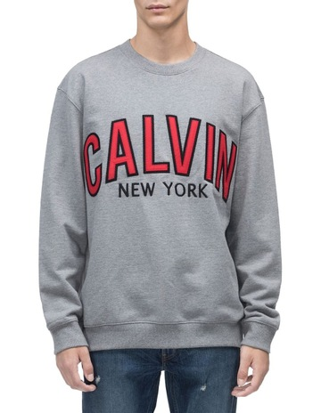 cd5f550c9c Calvin Klein JeansCalvin Graphic Crew Neck Sweat Top. Calvin Klein Jeans  Calvin Graphic Crew Neck Sweat Top