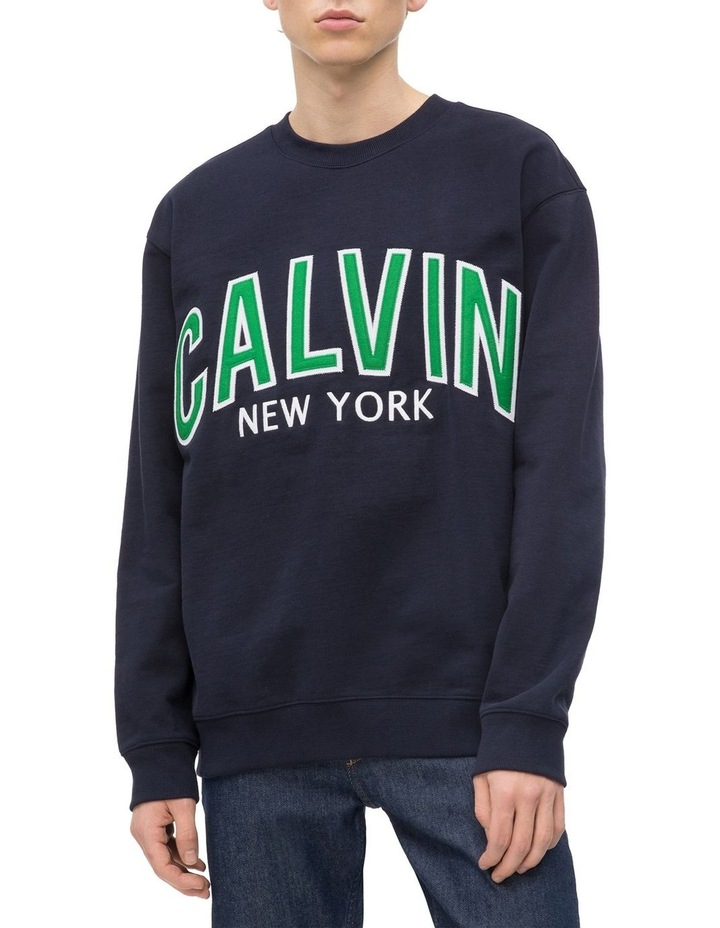 new product aa96a bfc59 Calvin Klein Jeans Calvin Graphic Crew Neck Sweat Top