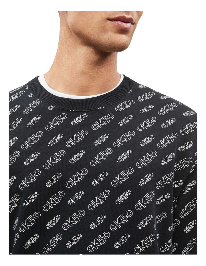 Aop Relaxed Crewneck Sweat image 3