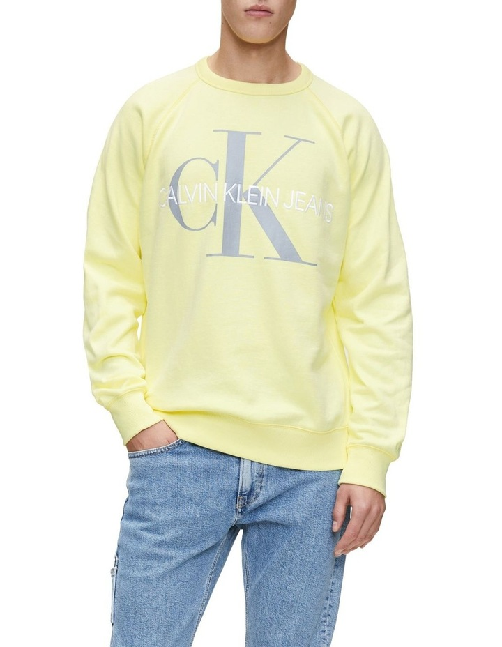 Vegetable Dye Monogram Crew Neck Sweat image 1
