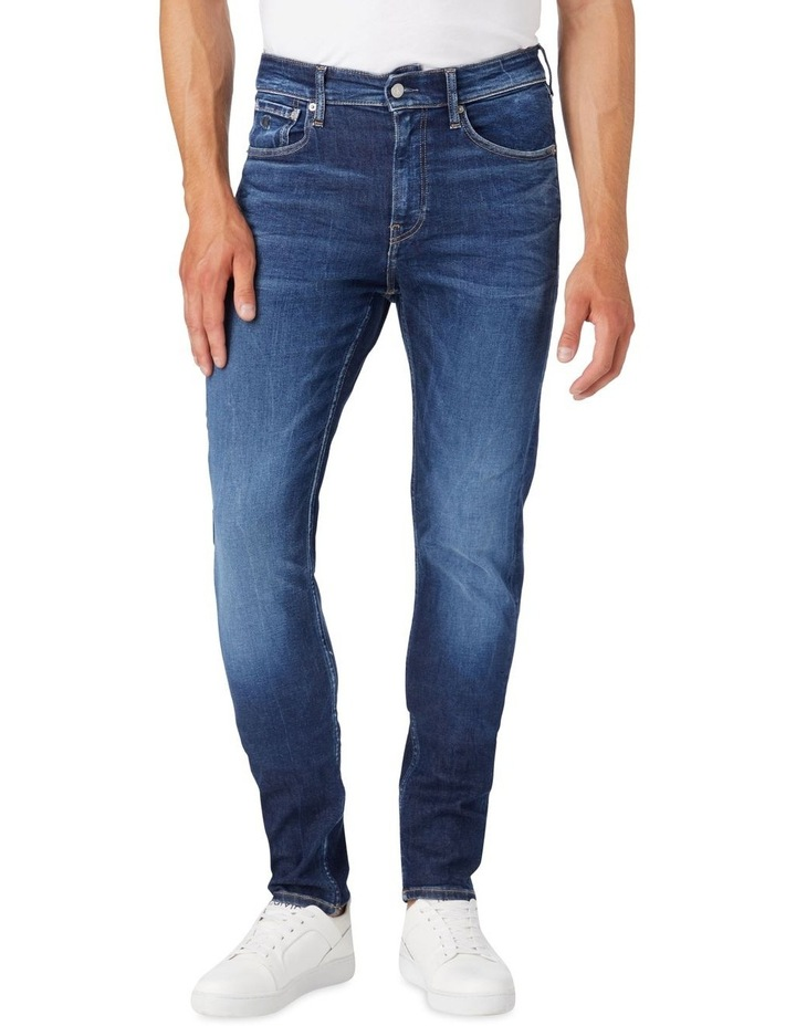 Slim Tapered Jeans Dark Blue image 1