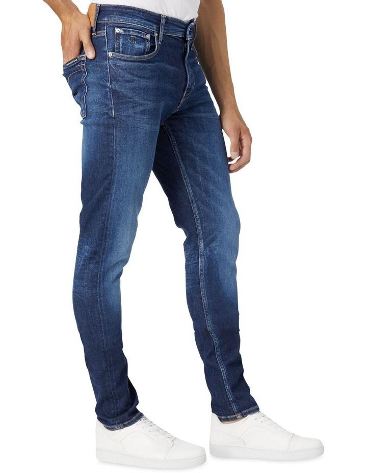 Slim Tapered Jeans Dark Blue image 3