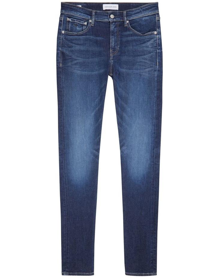 Slim Tapered Jeans Dark Blue image 4