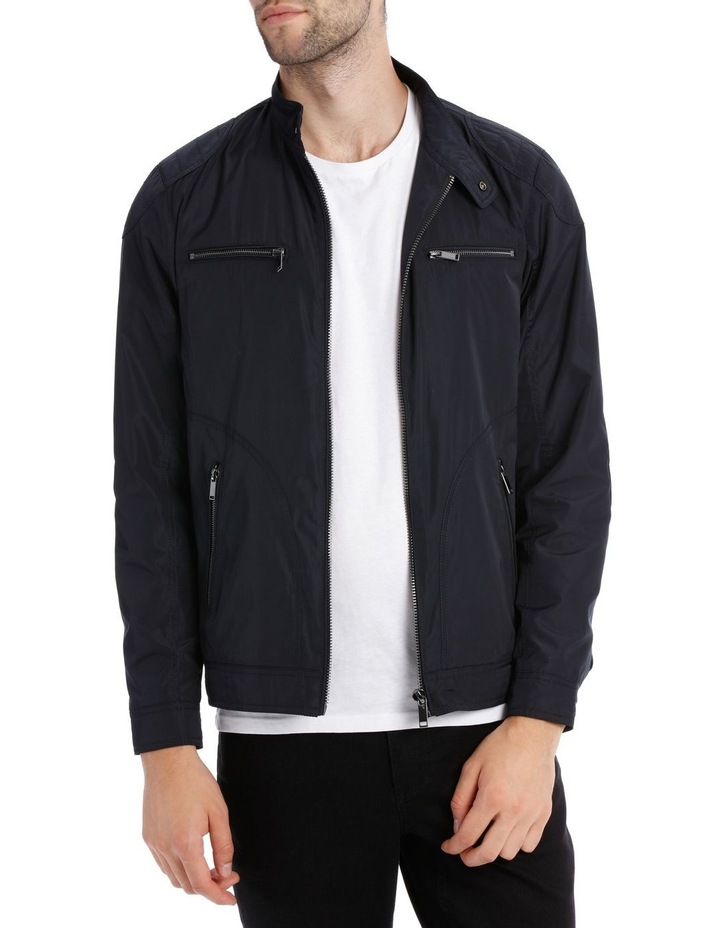 Navy Shoreditch Bomber Jacket image 1