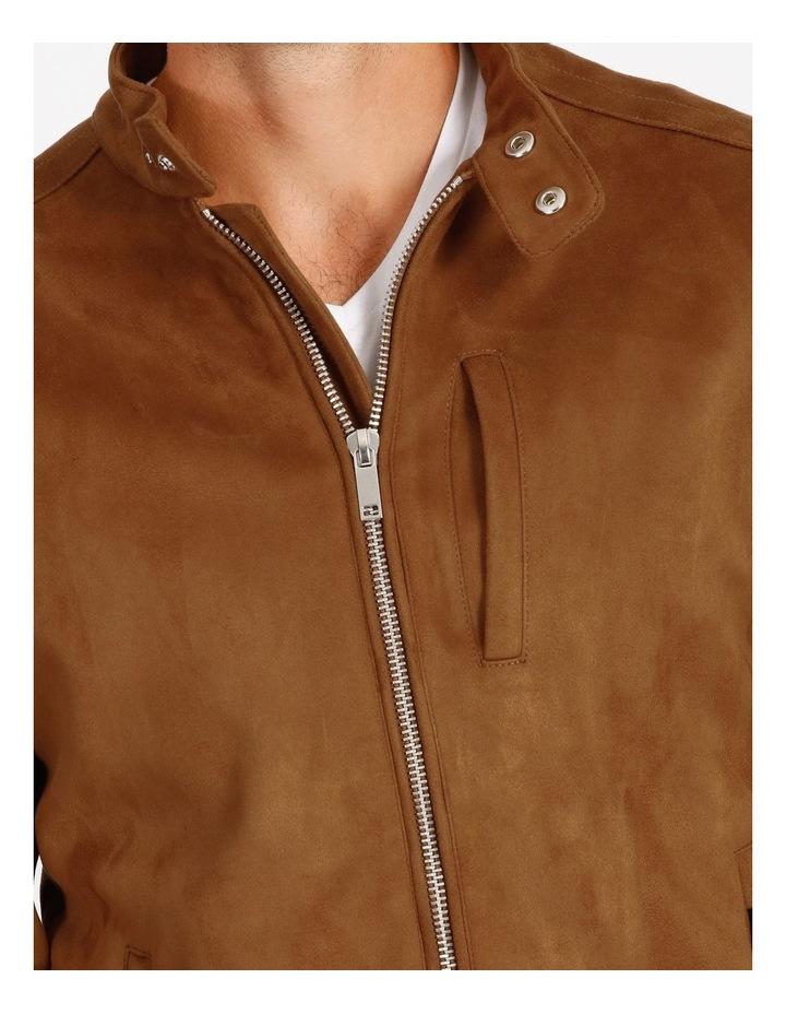 Leo Sueded Biker Jacket - Tobacco image 4
