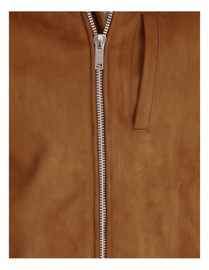 Leo Sueded Biker Jacket - Tobacco image 5