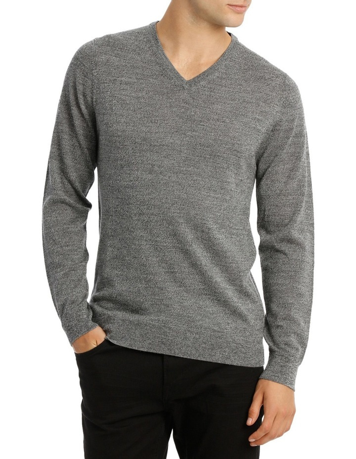 Jones Plain Merino Knit Steel MBW180001 image 1