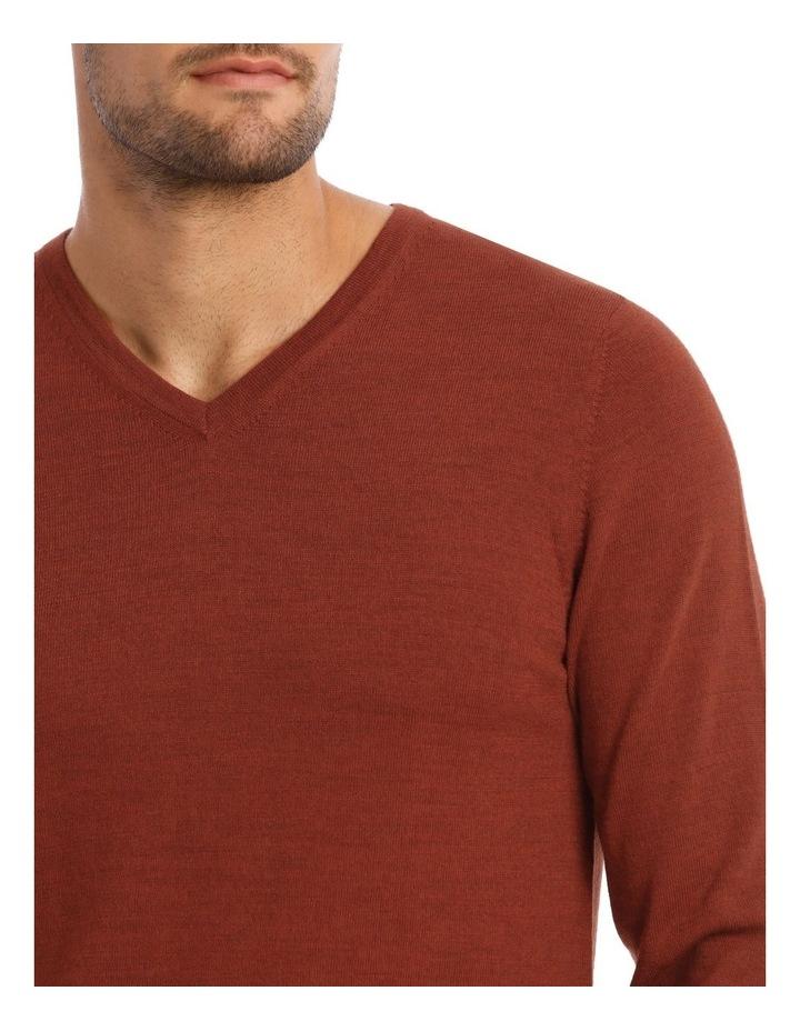 Jones Plain Merino Knit In Rust image 2