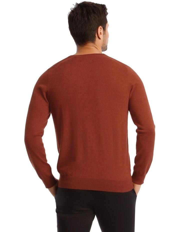 Jones Plain Merino Knit In Rust image 4