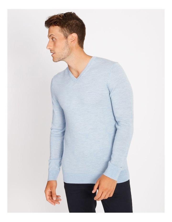 Plain Merino Knit - Blue image 1