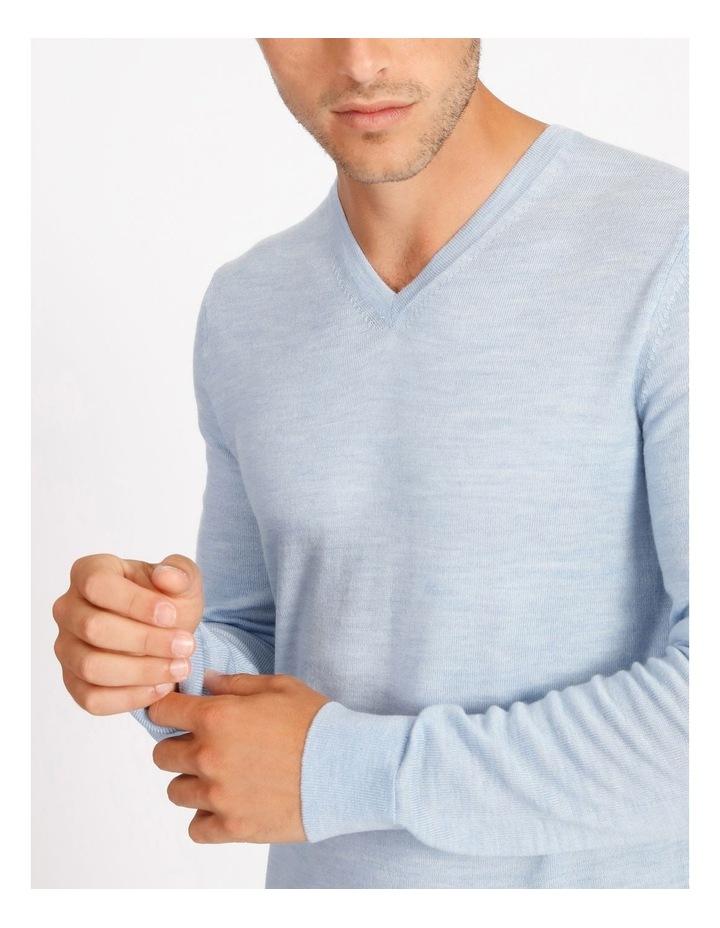 Plain Merino Knit - Blue image 4