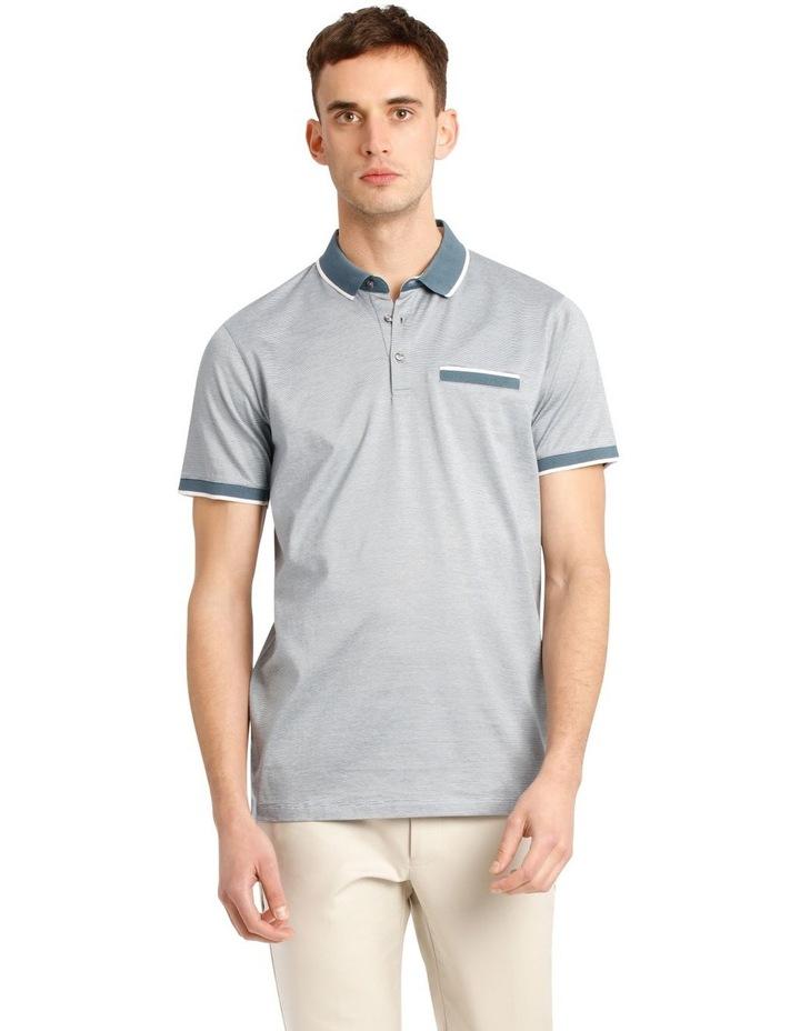 Lewis Fine Stripe Mercerised Polo image 1