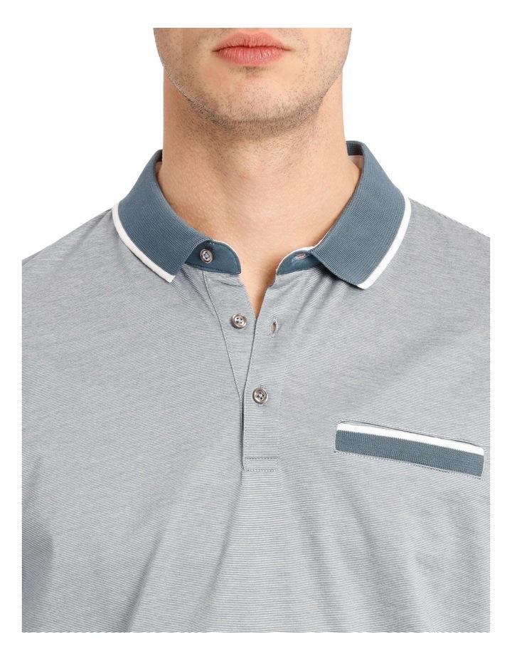 Lewis Fine Stripe Mercerised Polo image 4