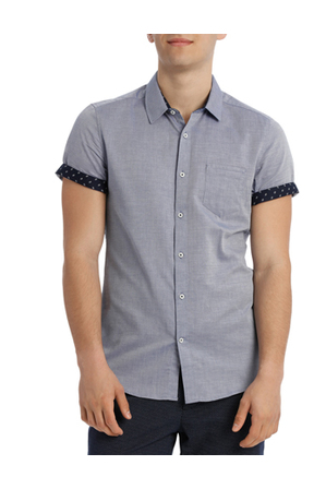 Blaq - ST Tropez Textured Short Sleeve Slim Shirt