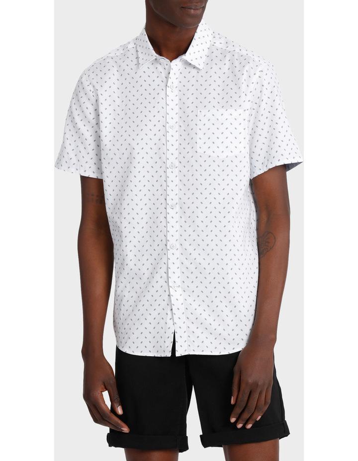 Miami Ditsy Print Short Sleeve Relaxed Shirt image 1