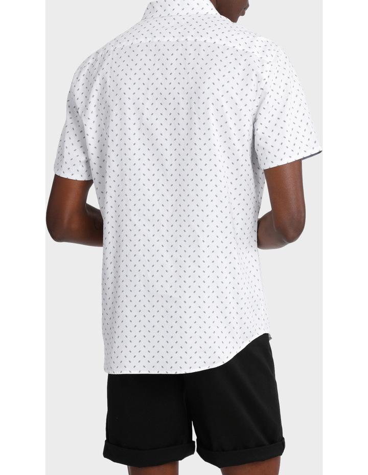 Miami Ditsy Print Short Sleeve Relaxed Shirt image 3