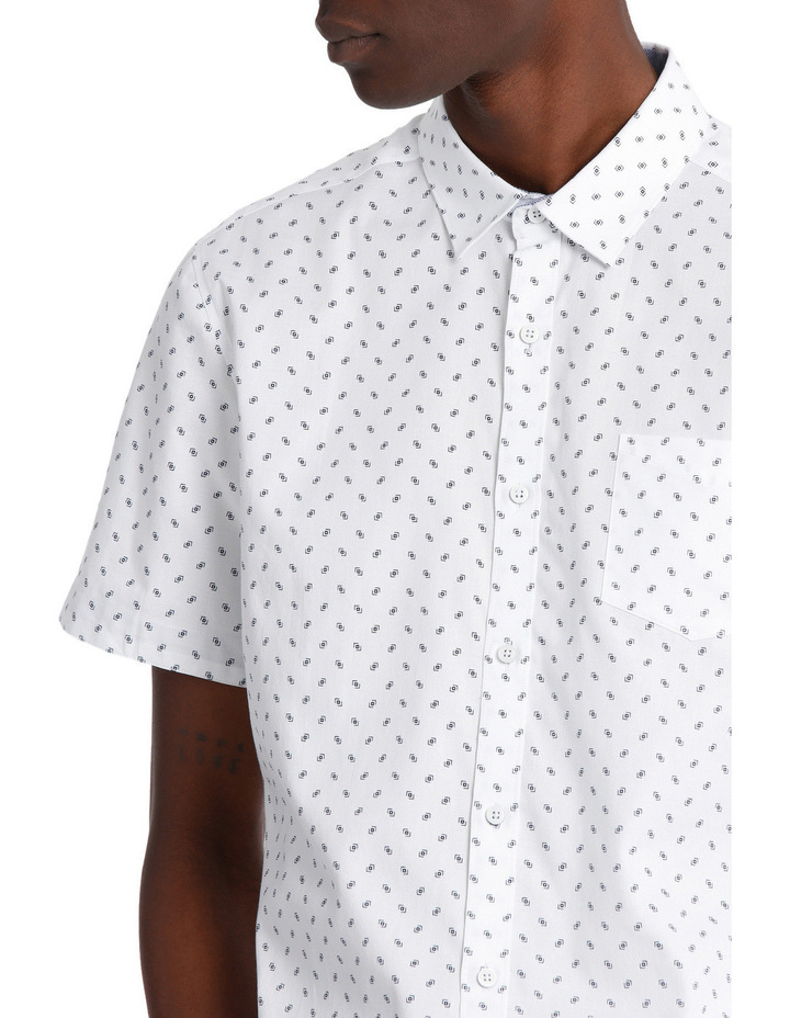 Miami Ditsy Print Short Sleeve Relaxed Shirt image 4