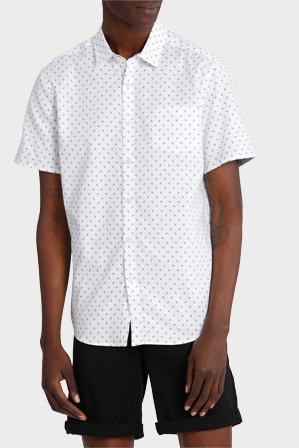 Blaq - Miami Ditsy Print Short Sleeve Relaxed Shirt