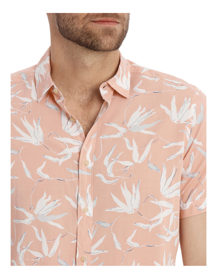 Brazil Floral Print Short Sleeve Relaxed Shirt image 4