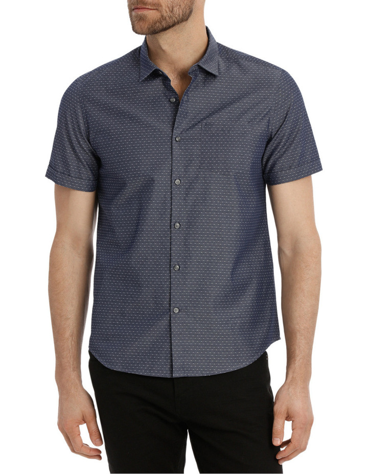 Bronn Chambray Relaxed Short Sleeve Shirt image 1