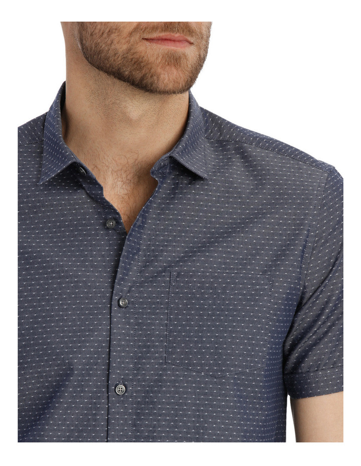 Bronn Chambray Relaxed Short Sleeve Shirt image 4
