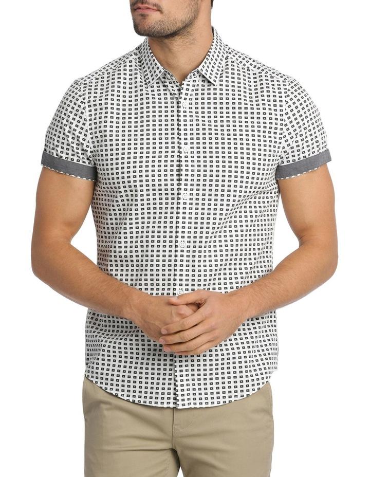 Belwas Printed Short Sleeve Slim Shirt image 1