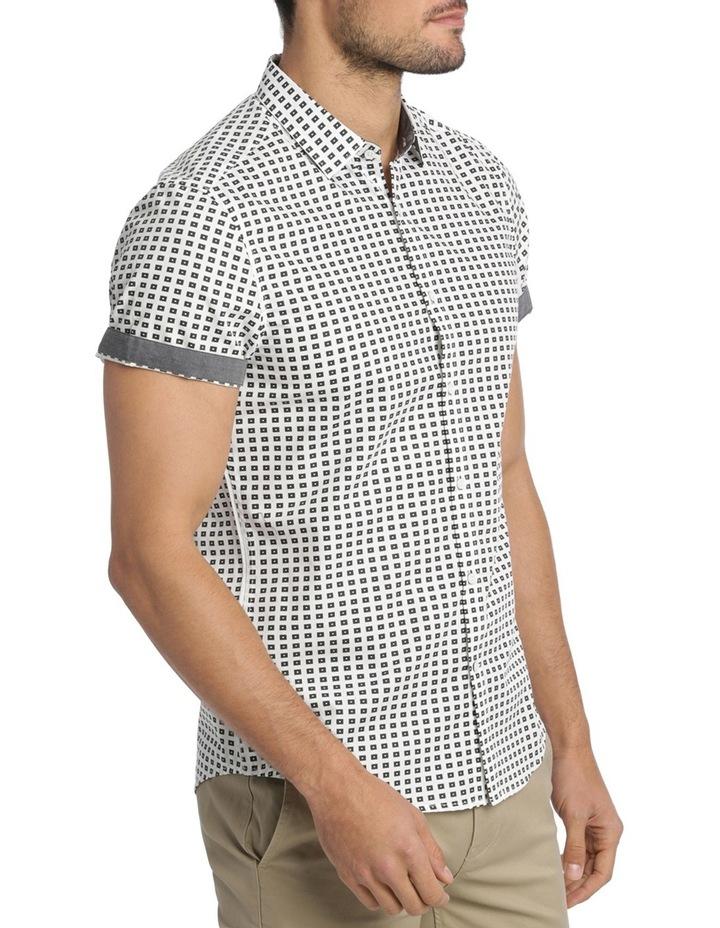 Belwas Printed Short Sleeve Slim Shirt image 2