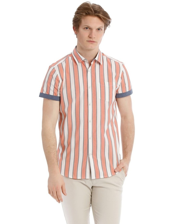 Santorini Stripe Short Sleeve Slim Shirt image 1