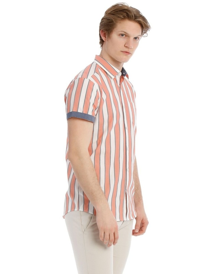 Santorini Stripe Short Sleeve Slim Shirt image 2