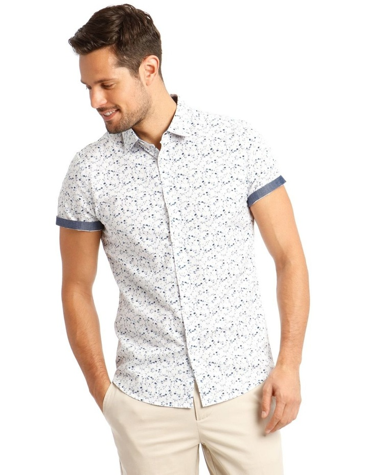 Monet Printed Short Sleeve Slim Shirt image 1