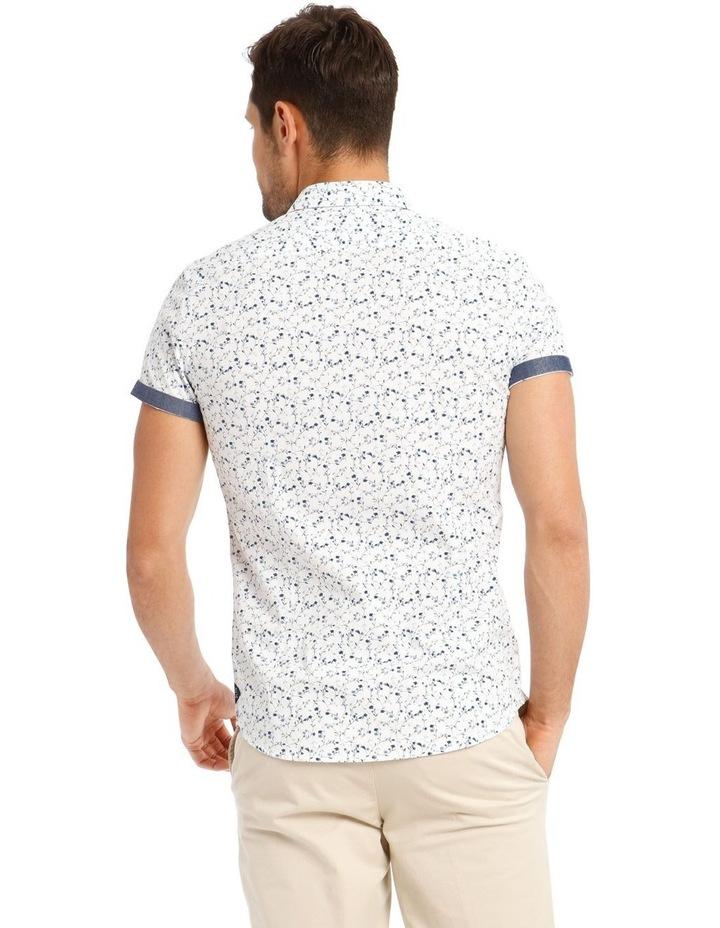 Monet Printed Short Sleeve Slim Shirt image 3