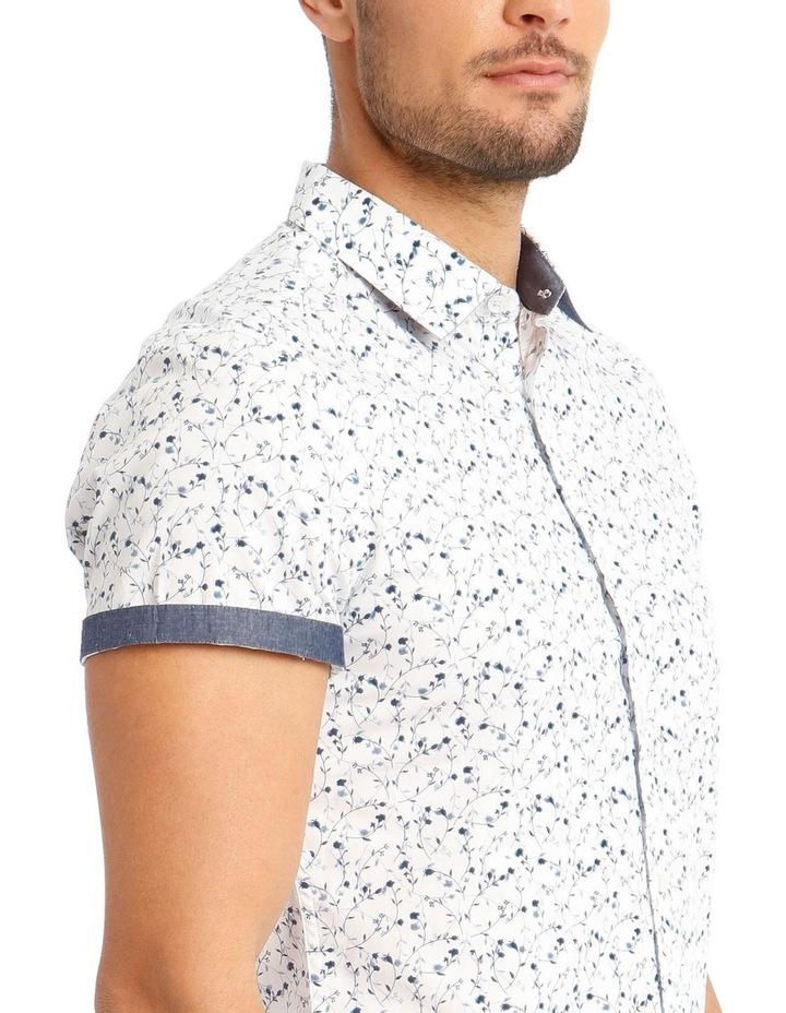 Monet Printed Short Sleeve Slim Shirt image 4
